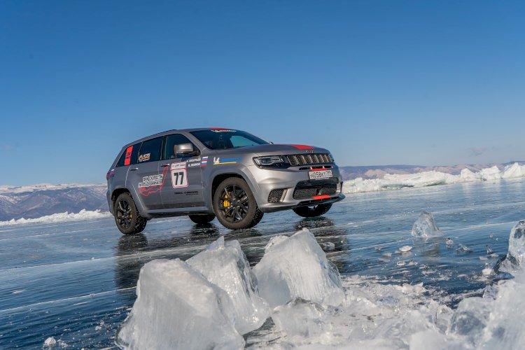 Jeep Buz Üzerinde Hız Rekorunu kırdı!